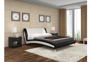 Кровать двойная Мальта экокожа