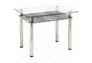 Стол обеденный с полкой, стекло