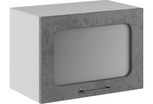 Лофт Навесной шкаф (газовка) 500 мм, с дверцей и стеклом