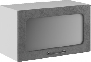 Лофт Навесной шкаф (газовка) 600 мм, с дверцей и стеклом