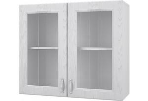 Принцесса Навесной шкаф 800 мм (витрина) с дверями МДФ и стеклом