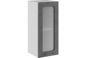 Лофт Навесной шкаф 300 мм, с дверцей и стеклом