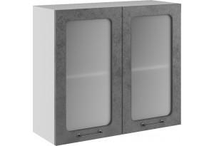 Лофт Навесной шкаф 800 мм, с дверцей и стеклом