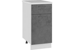 Лофт Напольный шкаф 400 мм, с дверцей и ящиком