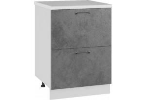 Лофт Напольный шкаф 600 мм, с ящиками
