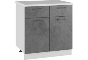 Лофт Напольный шкаф 800 мм, с дверцами и ящиками