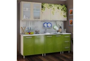 Кухонный гарнитур с фотопечатью «Лоза» 2,0 м Люкс