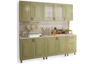 Кухонный гарнитур с фотопечатью «Прима» 2,0 м Люкс