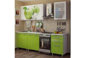 Кухонный гарнитур с фотопечатью «Яблоко» 1,8м.