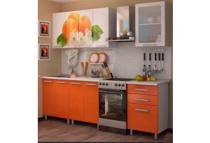 Кухонный гарнитур с фотопечатью «Персик» 1,8м.