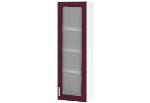 Ксения Пенал настольный 400 мм, с дверцей и стеклом