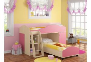 Кровать-чердак Дюймовочка-5/1 с дополнительным спальным местом