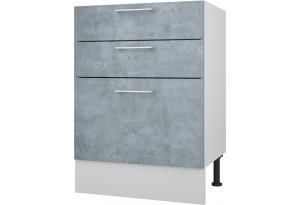 Лофт Напольный шкаф 600 мм с тремя ящиками