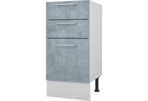 Лофт Напольный шкаф 400 мм с тремя ящиками