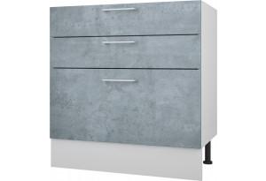 Лофт Напольный шкаф 800 мм с тремя ящиками