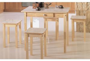 Стол обеденный (прямая нога) + 4 табурет (прямая нога)