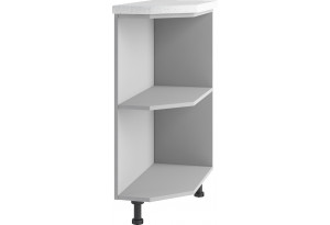 Лофт Напольный шкаф угловой 300 мм, открытый