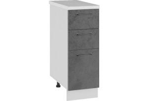 Лофт Напольный шкаф 300 мм, с тремя ящиками