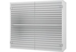 Люкс Навесной шкаф 800 мм (витрина) с стеклянными дверцами