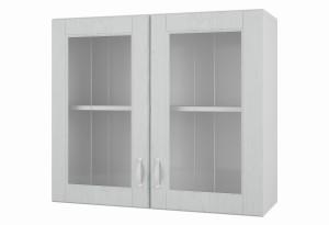 Камелия Навесной шкаф 800 мм (витрина) с дверями МДФ и стеклом