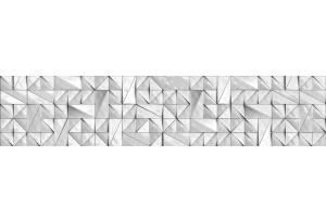 Стеновая панель SP MSK Треугольники Вайт