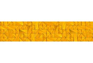Стеновая панель SP MSK Треугольники Жёлтый