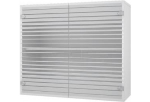 Ева Навесной шкаф 800 мм (витрина) с стеклянными дверцами