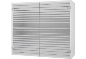Лофт Навесной шкаф 800 мм (витрина) с стеклянными дверцами