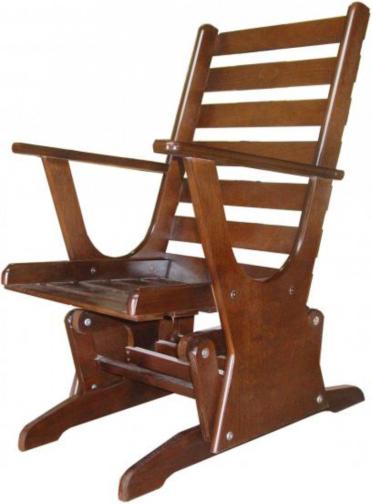 Кресло качалка на маятниковом механизме своими руками