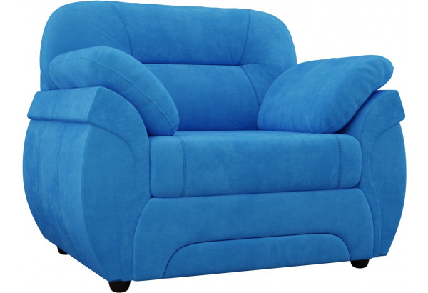 Кресло Бруклин Голубой (Велюр) - фото 1