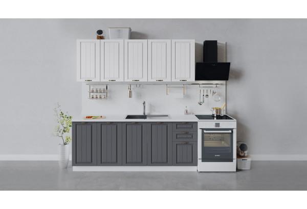 Кухонный гарнитур «Лина» длиной 200 см (Белый/Белый/Графит) - фото 1