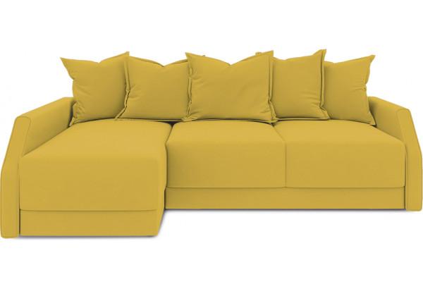 Диван угловой левый «Люксор Slim Т2» (Poseidon Curcuma (иск.замша) желтый) - фото 2