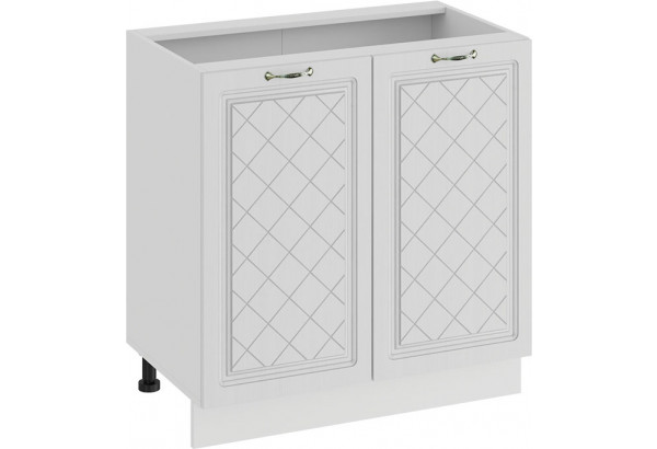Шкаф напольный с двумя дверями «Бьянка» (Белый/Дуб белый) - фото 1