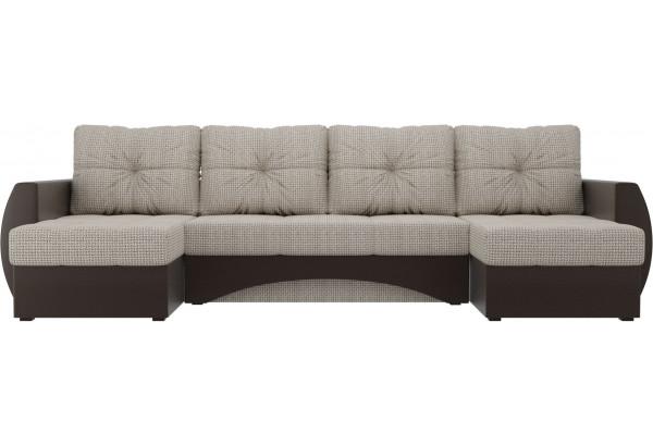 П-образный диван Сатурн Корфу 02/коричневый (Корфу/экокожа) - фото 2