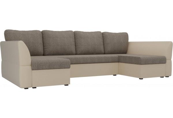П-образный диван Гесен Корфу 03/коричневый (Корфу/экокожа) - фото 1