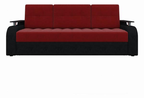Диван прямой Ричард красный/Черный (Микровельвет) - фото 2