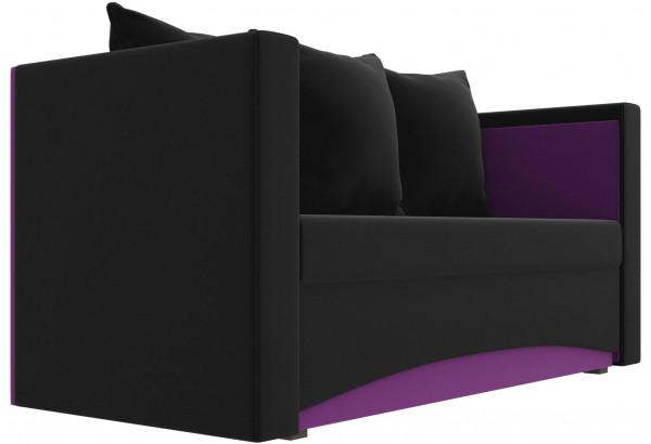 Кушетка Чарли черный/фиолетовый (Микровельвет) - фото 3
