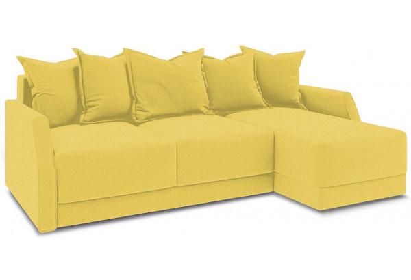 Диван угловой правый «Люксор Slim Т1» (Neo 08 (рогожка) желтый) - фото 1