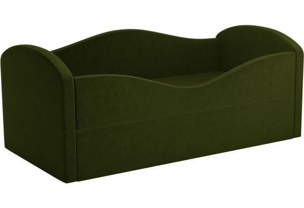 Детская кровать Сказка Зеленый (Микровельвет) - фото 1