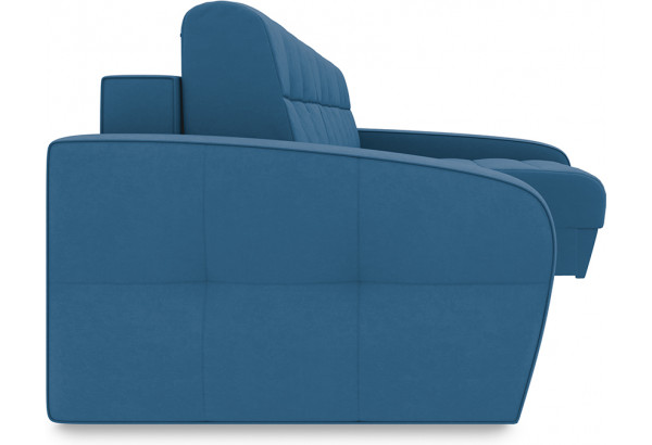 Диван угловой правый «Аспен Т2» Beauty 07 (велюр) синий - фото 3