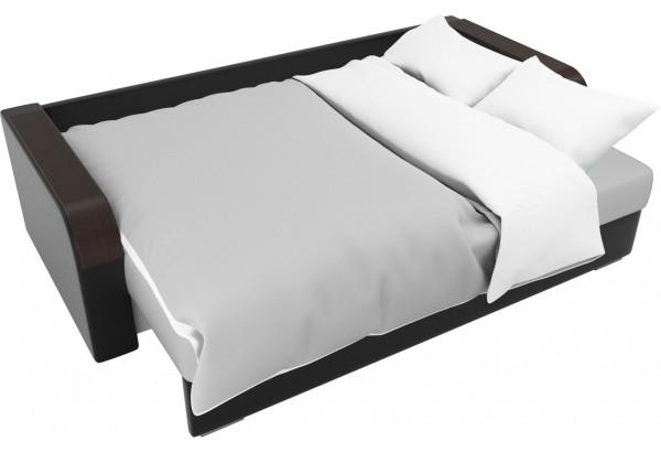 Прямой диван Мейсон Белый/Черный (Экокожа) - фото 7
