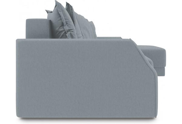 Диван угловой правый «Люксор Slim Т1» (Kolibri Silver (велюр) серый) - фото 3