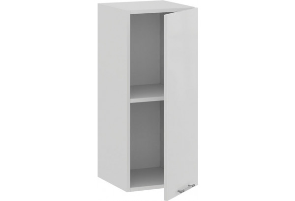 Шкаф навесной c одной дверью «Весна» (Белый/Белый глянец) - фото 2