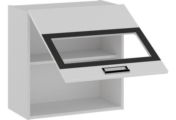 Шкаф навесной со стеклом (БЬЮТИ (Белая)) - фото 2