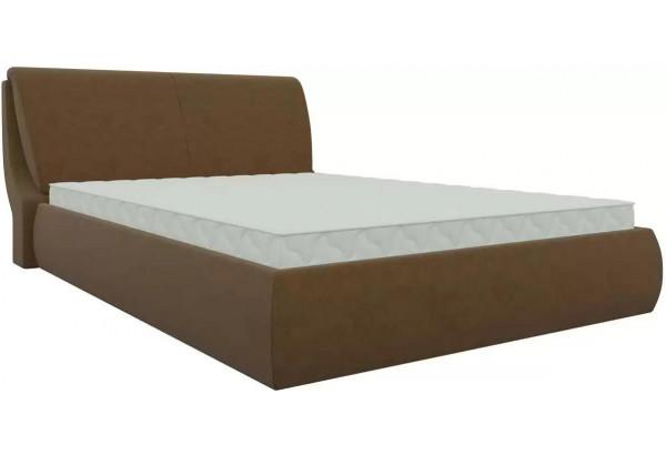 Интерьерная кровать Принцесса Коричневый (Микровельвет) - фото 1