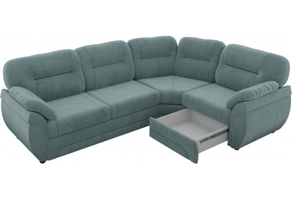 Угловой диван Бруклин бирюзовый (Велюр) - фото 4