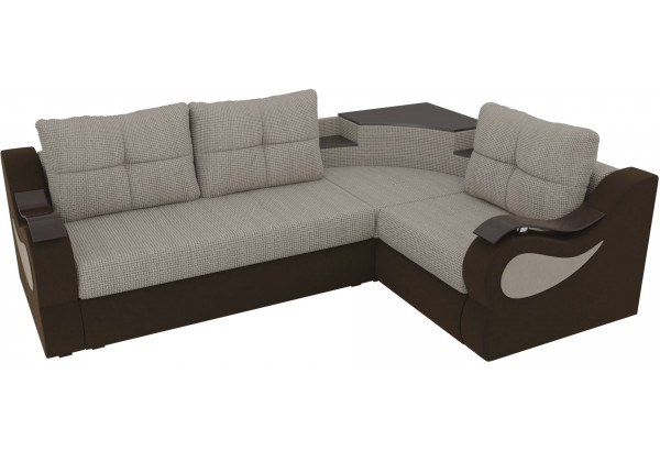 Угловой диван Митчелл Корфу 02/коричневый (Корфу/Микровельвет) - фото 4