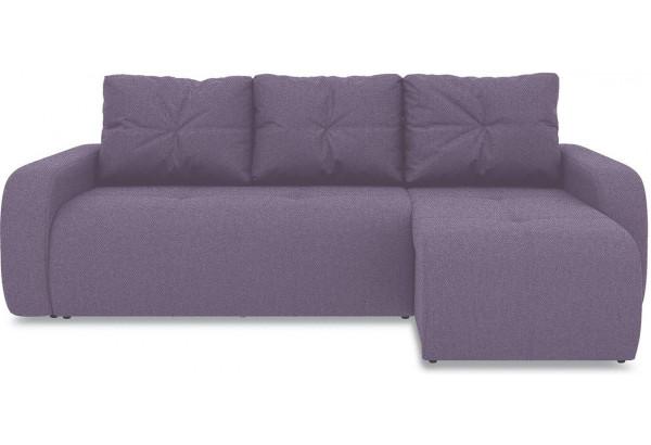 Диван угловой правый «Томас Т1» (Neo 09 (рогожка) фиолетовый) - фото 2