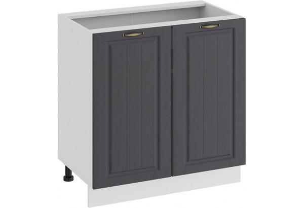 Шкаф напольный с двумя дверями «Лина» (Белый/Графит) - фото 1