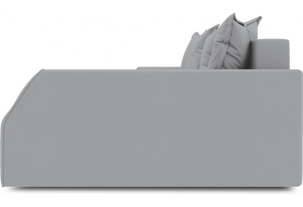 Диван угловой правый «Люксор Slim Т2» (Poseidon Grey (иск.замша) серый) - фото 5